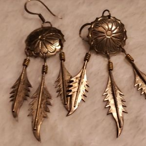 Native American style sterling silver earrings
